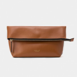 Jessie & Jane Origami Leather Brown Shoulder Bag (TMJ15FF1065)