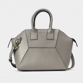 Jessie & Jane Hexa Patch Grey Leather Tote Bag (TMJ15FF1079)