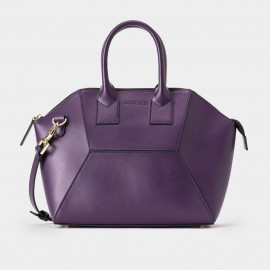 Jessie & Jane Hexa Patch Purple Leather Tote Bag (TMJ15FF1079)