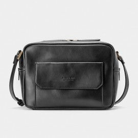 Jessie & Jane Preppie Chic Leather Black Shoulder Bag (TMJ15FF1180)