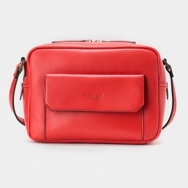 Jessie & Jane Preppie Chic Leather Red Shoulder Bag (TMJ15FF1180)