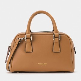 Jessie & Jane Miniature Classic Leather Brown Top Handle (TMJ15FF1242)
