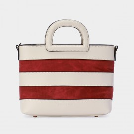 Jessie & Jane Ola Sailor Leather Red Tote Bag (TMJ15SF1049)