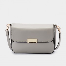 Jessie & Jane Imbalance Leather Grey Shoulder Bag (TMJ15SF1052)