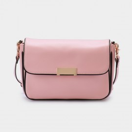 Jessie & Jane Imbalance Leather Pink Shoulder Bag (TMJ15SF1052)