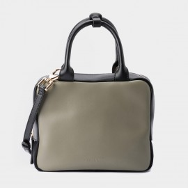 Jessie & Jane Box and Cube Leather Green Top Handle (TMJ15SF1057)