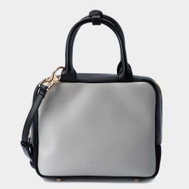 Jessie & Jane Box and Cube Leather Grey Top Handle (TMJ15SF1057)
