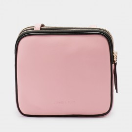 Jessie & Jane Triplet Leather Pink Shoulder Bag (TMJ15SF1068)