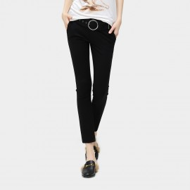 Cocobella Slim-Cut Ankle Black Pant (PT165)