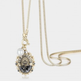 Caromay Vintage Mirror Champagne Long Chain (X0587)