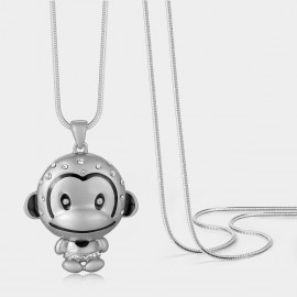Caromay Baby Monkey Silver Long Chain (X0643)