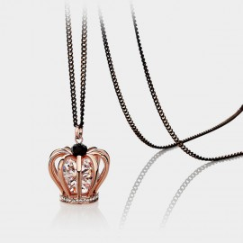 Caromay Hollow Queen Crown Rose Gold Long Chain (X0816)