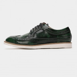 Herilios Hollow Out Oxford Emerald Green Lace Up (H6105D04)