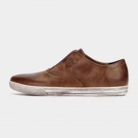 Herilios Grained Leather Brown Loafers (H6105D14)