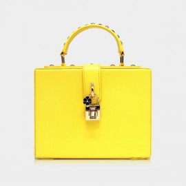 Top Beauty Premium Case PU Yellow Top Handle (AZ0001)
