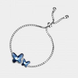 SEVENTY 6  Butterflies In Dream Blue Bracelet (3556)