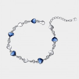 SEVENTY 6  Flooding Hearts Blue Bracelet (3558)