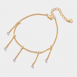 SEVENTY 6 Love In May Rose Gold Anklet (3573)