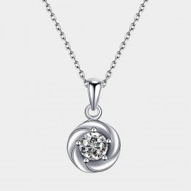 SEVENTY 6 Rose In Memory White Necklace (11047)