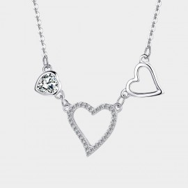 SEVENTY 6 Magical Hearts White Necklace (11094)