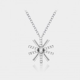 Caromay Sunflower Silver Necklace (X0850)