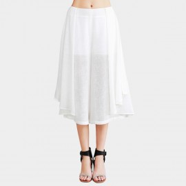Vanilla Chocolate Off White Chiffon Skirt Pants (V623396980)