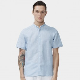 Beverry Gradient Simple Short Sleeve Blue Shirt (16ADC0054)