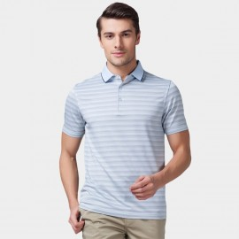 Beverry Pastel Palette Strip Polo Blue Shirt (15ABX17508)