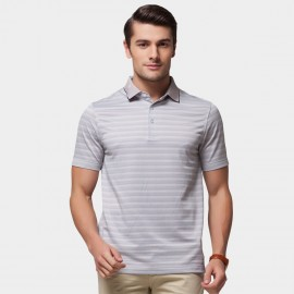 Beverry Pastel Palette Strip Polo Brown Shirt (15ABX17508)