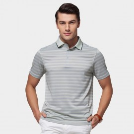 Beverry Pastel Palette Strip Polo Green Shirt (15ABX17508)