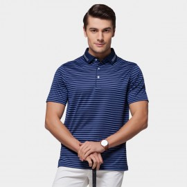 Beverry Vivid Palette Contrast Strip Polo Navy Shirt (15ABX17515)