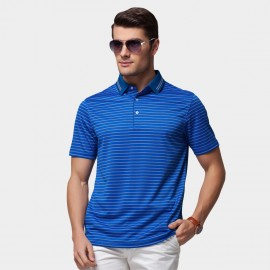 Beverry Vivid Palette Contrast Strip Polo Blue Shirt (15ABX17515)