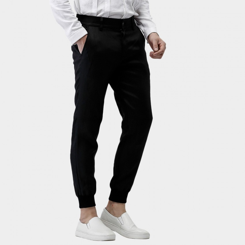 Beverry Tight Ankle Comfortable Fit Long Black Pants