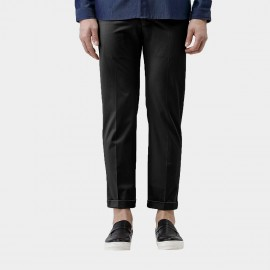 Beverry Slim Fit Chino Long Black Pants (16CAC0048)