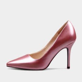 Weekend Bird Scarce Beauty Leather Pink Pumps (631ZG0210)