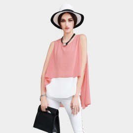 Vanilla Chocolate Poncho Watermelon Top (V622156746)