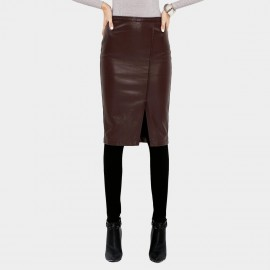Vanilla Chocolate Bodycon Wine Skirt (V631057385)