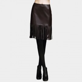 Vanilla Chocolate Sash Wine Skirt (V631057389)