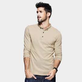 Kuegou Plain Khaki Polo Shirt (MT-1514)