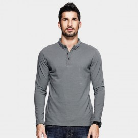 Kuegou Plain Grey Polo Shirt (MT-1514)