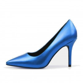 Jady Rose Gloss Collection Leather Blue Pumps (16DR10062)