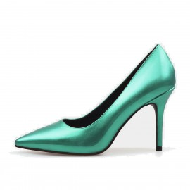 Jady Rose Gloss Collection Leather Green Pumps (16DR10062)