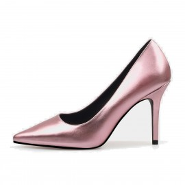 Jady Rose Gloss Collection Leather Pink Pumps (16DR10062)