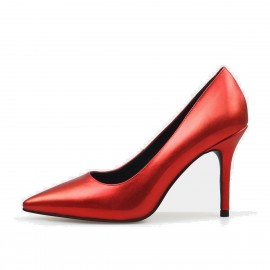 Jady Rose Gloss Collection Leather Red Pumps (16DR10062)