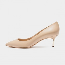 Jady Rose Classic Low Leather Apricot Pumps (16DR10078)
