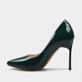 Jady Rose High Shank Leather Green Pumps (16DR10079)
