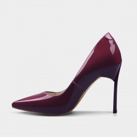 Jady Rose High Shank Leather Wine Pumps (16DR10079)