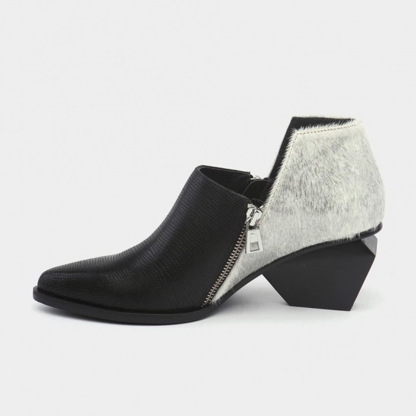 Jady Rose Wild Touch Leather Silver Boots (16DR10107)