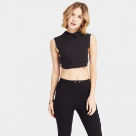 HaoYouDuo Open Side Black Top (24303013)