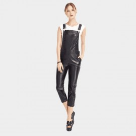 HaoYouDuo Workmen Black Jumpsuit (24304018)
